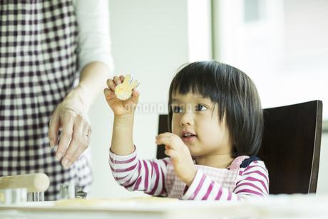 クッキー作りをする女の子の写真素材 [FYI01624678]