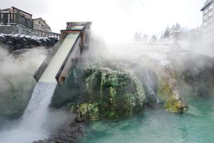草津温泉の湯畑の写真素材 [FYI01626360]