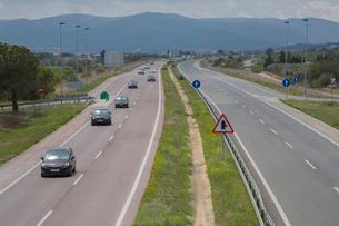バレンシア付近の高速道路の写真素材 [FYI01626373]