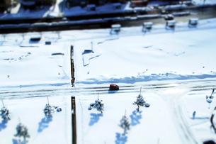 雪道の写真素材 [FYI01626572]