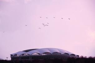 冬の東北電力ビッグスワンスタジアムの写真素材 [FYI01626690]