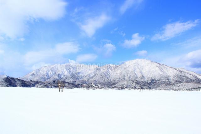 冬の弥彦山の写真素材 [FYI01626733]