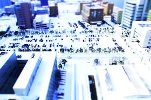 冬の新潟市街並みの写真素材 [FYI01626744]