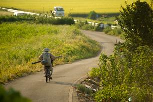 農道と田園の写真素材 [FYI01626825]
