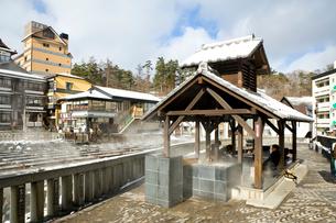 草津温泉の足湯の写真素材 [FYI01626827]
