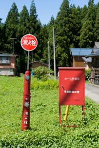 消火栓とホース格納箱の写真素材 [FYI01627352]