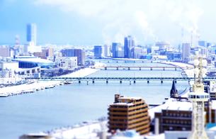 冬の新潟市街並みの写真素材 [FYI01627434]