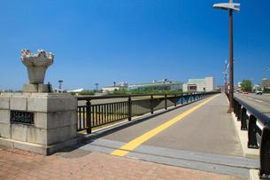 信濃川に架かる昭和大橋の写真素材 [FYI01627566]