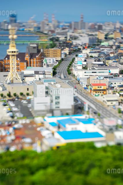新潟市の街並みの写真素材 [FYI01627591]
