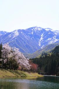 残雪の粟ヶ岳の写真素材 [FYI01627592]