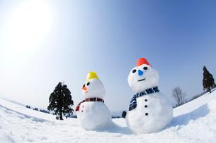 雪だるまの写真素材 [FYI01627597]