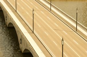 信濃川に架かる萬代橋の写真素材 [FYI01628276]