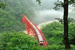 黒部峡谷鉄道のトロッコ電車の写真素材 [FYI01628626]