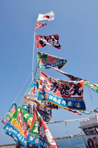 青空に大漁旗の写真素材 [FYI01628717]