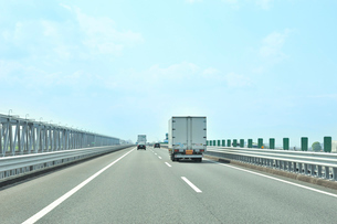 名神高速道路下り線 木曽川橋の写真素材 [FYI01628753]