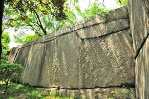 桜門枡形の巨石(振袖石)の写真素材 [FYI01629214]