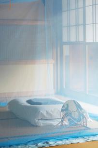 和室に蚊帳の写真素材 [FYI01629763]