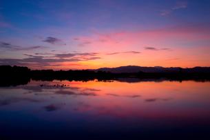 福島潟の朝の写真素材 [FYI01629818]
