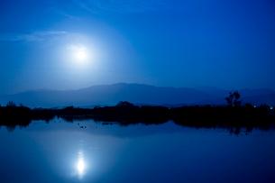福島潟の朝の写真素材 [FYI01629874]