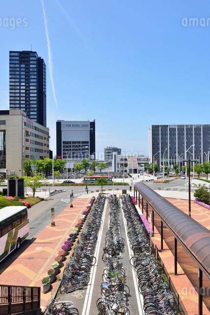 新潟駅南口の駐輪場の写真素材 [FYI01630032]