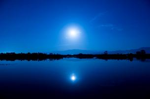 福島潟の朝の写真素材 [FYI01630379]