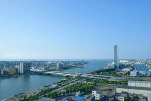 新潟市の街並の写真素材 [FYI01630543]