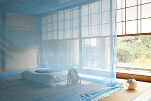和室に蚊帳の写真素材 [FYI01631006]