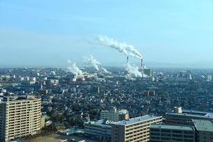 新潟市内の街並の写真素材 [FYI01631093]