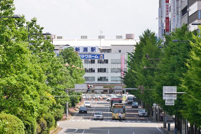 新潟駅万代口の写真素材 [FYI01631428]
