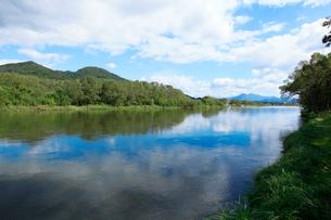 秋の三面川の写真素材 [FYI01631527]