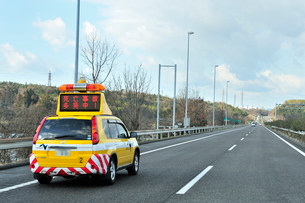 道路パトロールカーの写真素材 [FYI01631752]