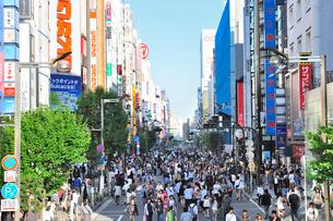 新宿通りの歩行者天国の写真素材 [FYI01631947]