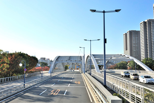 京阪国道桜宮橋の写真素材 [FYI01632191]