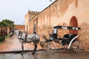 城壁と馬車の写真素材 [FYI01632483]