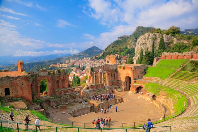ギリシャ劇場の写真素材 [FYI01633557]
