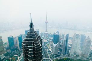 上海ヒルズ94階展望台よりの写真素材 [FYI01634299]