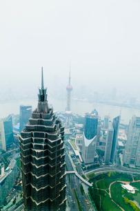 上海ヒルズ94階展望台よりの写真素材 [FYI01634313]