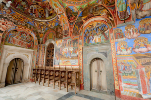 フレスコ画,リラの僧院の写真素材 [FYI01634350]