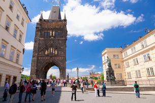 旧市街橋塔の写真素材 [FYI01634755]