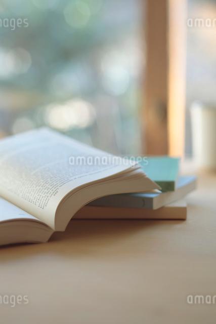 窓辺の洋書の写真素材 [FYI01635165]