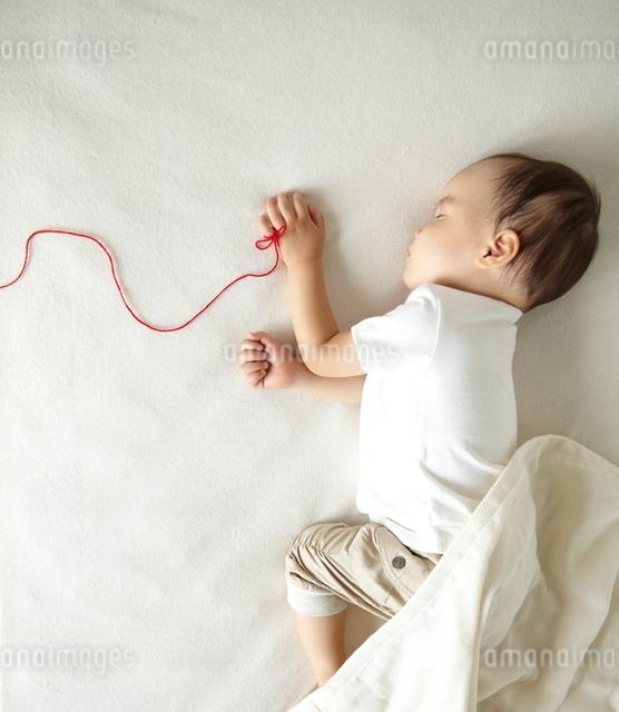 寝ている子供の写真素材 [FYI01635900]