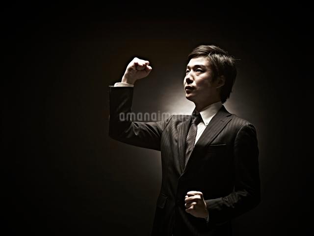 ガッツポーズのビジネスマンの写真素材 [FYI01637049]