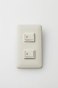 白いスイッチの写真素材 [FYI01637194]