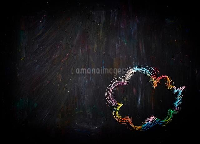 クレヨンスクラッチの吹き出しの写真素材 [FYI01637348]