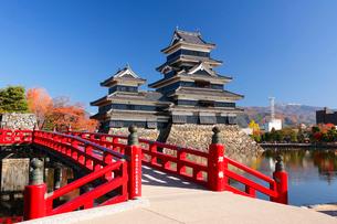 松本城の秋の写真素材 [FYI01637403]