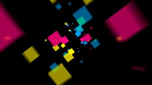 飛び出すカラーボックスの写真素材 [FYI01637709]