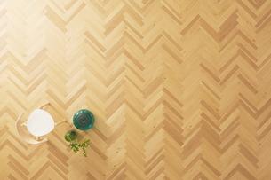 茶色の床と椅子の写真素材 [FYI01638567]