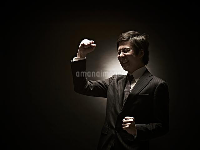 ガッツポーズのビジネスマンの写真素材 [FYI01638584]