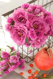 グレープキャンディというバラと洋ナシの写真素材 [FYI01638586]