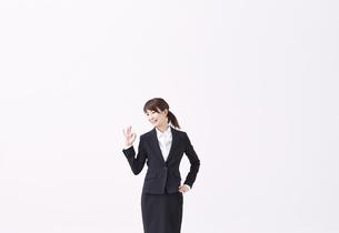 okサインを出す女性の写真素材 [FYI01639000]